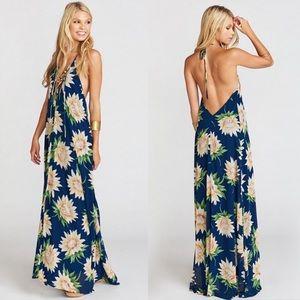 Show Me Your Mumu Logan Lace Up Maxi Dress Floral